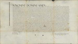 Dokument króla Zygmunta I dotyczący zgody na budowę wodociągu w Proszowicach