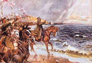 Zaślubiny Polski z morzem - obraz Kossaka