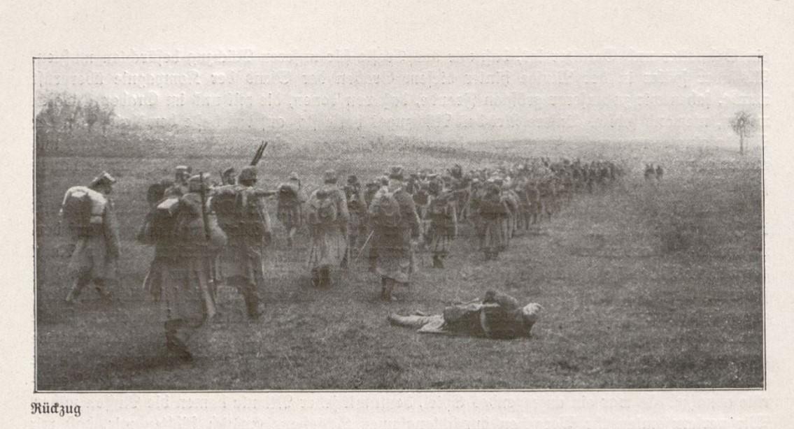 Wycofująca się armia Austro-Węgierska w rejonie Proszowic